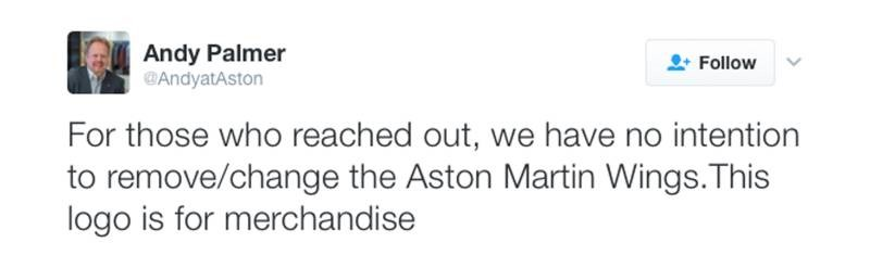 Tweet About Aston Martin New Logo