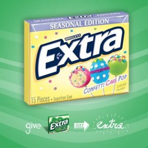 Wrigley's Extra Cake Pop Chewing Gum